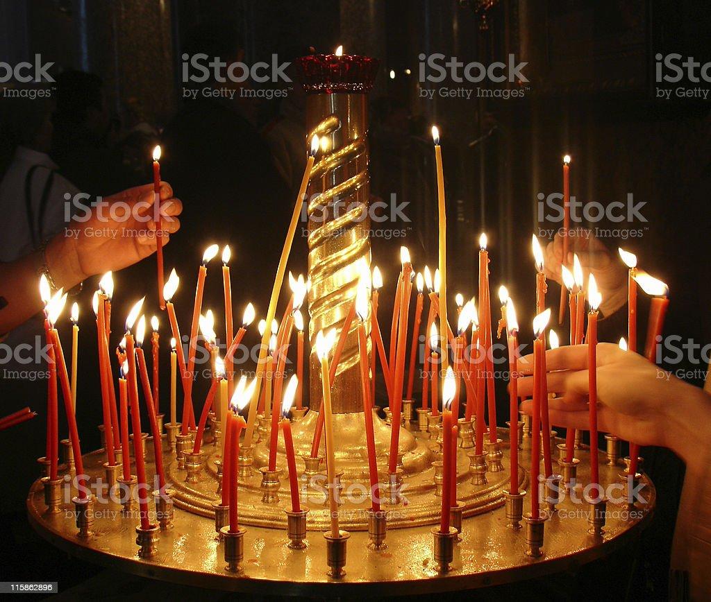 Prayer lights royalty-free stock photo