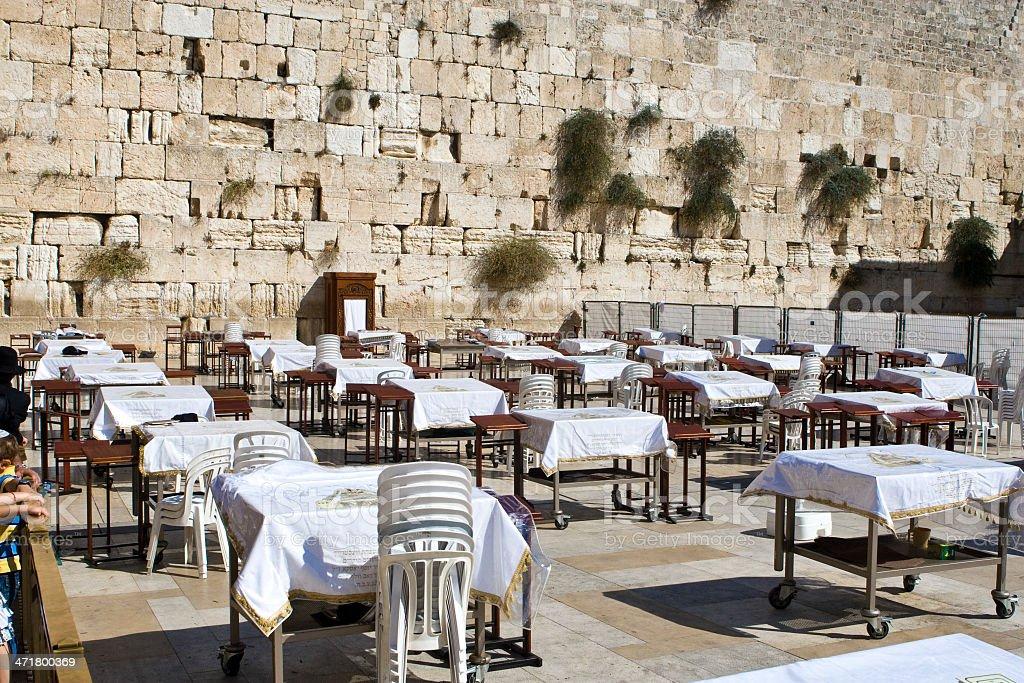Prayer of Jews at Western Wall. Jerusalem Israel stock photo