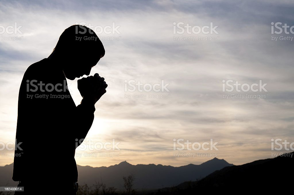 Prayer Silhouette royalty-free stock photo