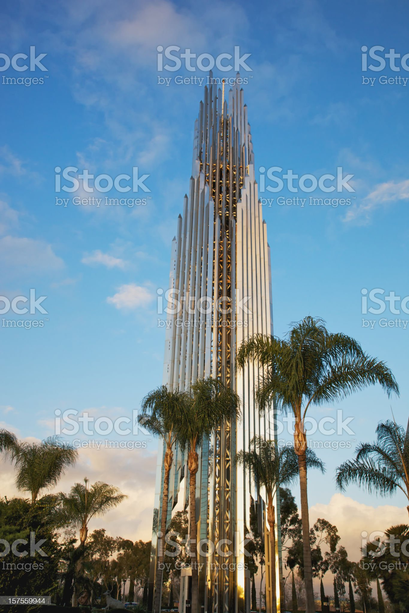 Prayer Tower of Crystal Cathedral in Garden Grove royalty-free stock photo