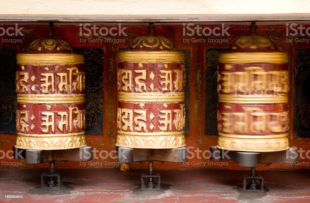 Prayer wheel at Swayambhunath, Kathmandu royalty-free stock photo