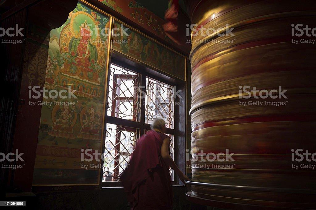 Prayer Wheel, Kathmandu royalty-free stock photo