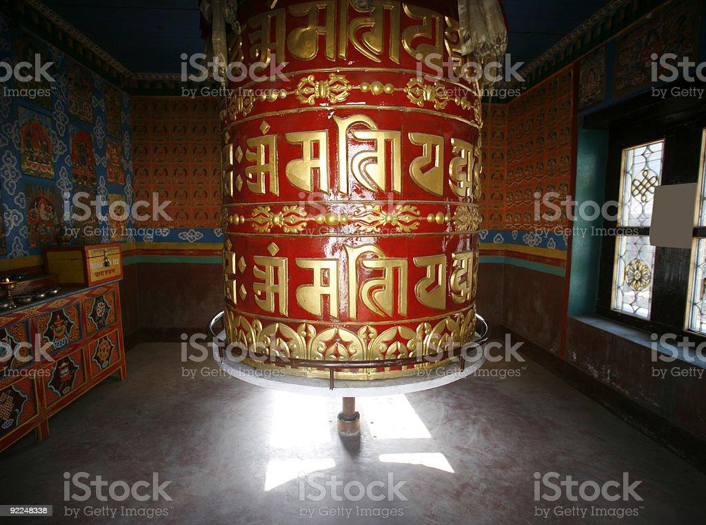 prayer wheel royalty-free stock photo