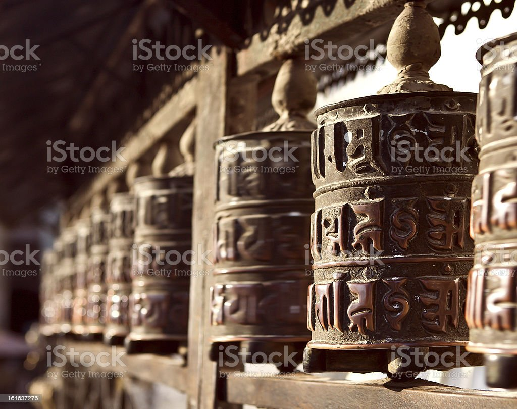 Prayer Wheels royalty-free stock photo