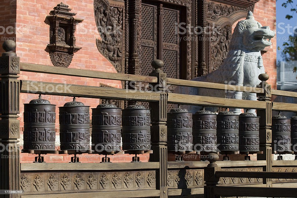 Prayer wheels royalty-free stock photo