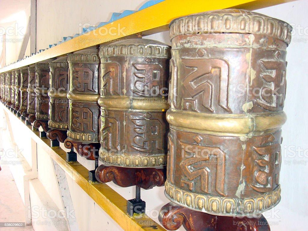 Prayer Wheels stock photo