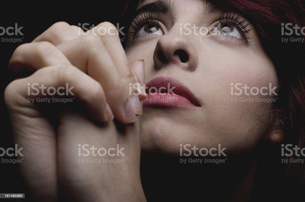 Prayer with faith royalty-free stock photo