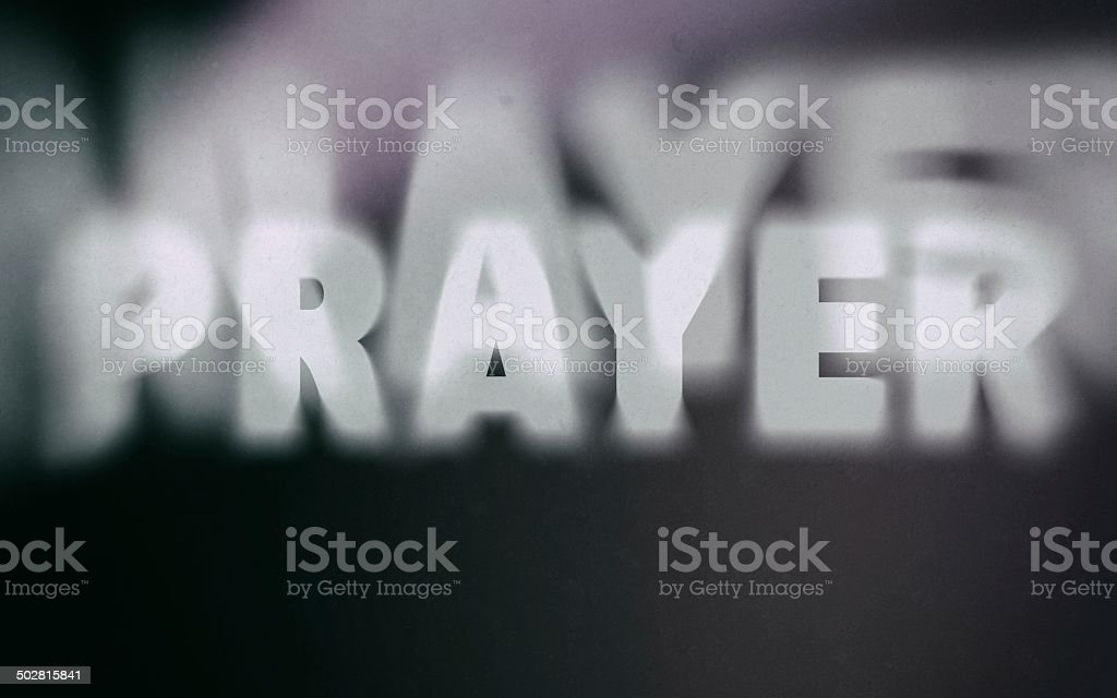 Prayer word on vintage blurred background royalty-free stock photo