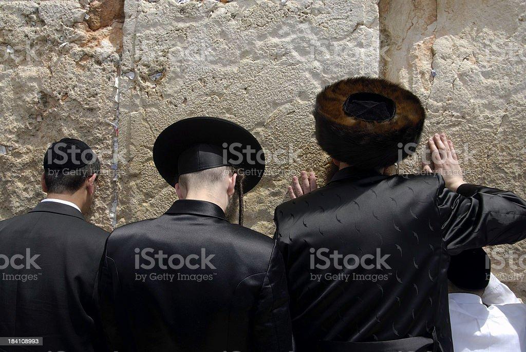 Prayers at the Western Wall royalty-free stock photo