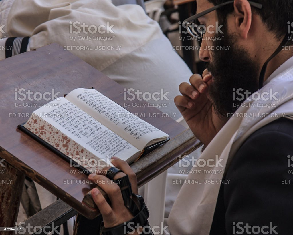 Prayers at the western wall royalty-free stock photo