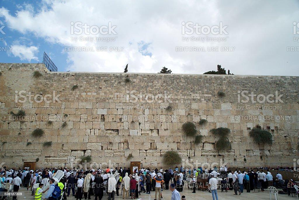 Prayers at the Western Wall stock photo