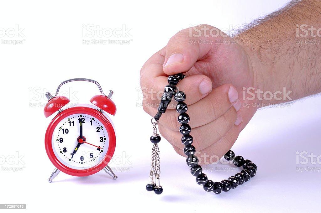 prayers time royalty-free stock photo