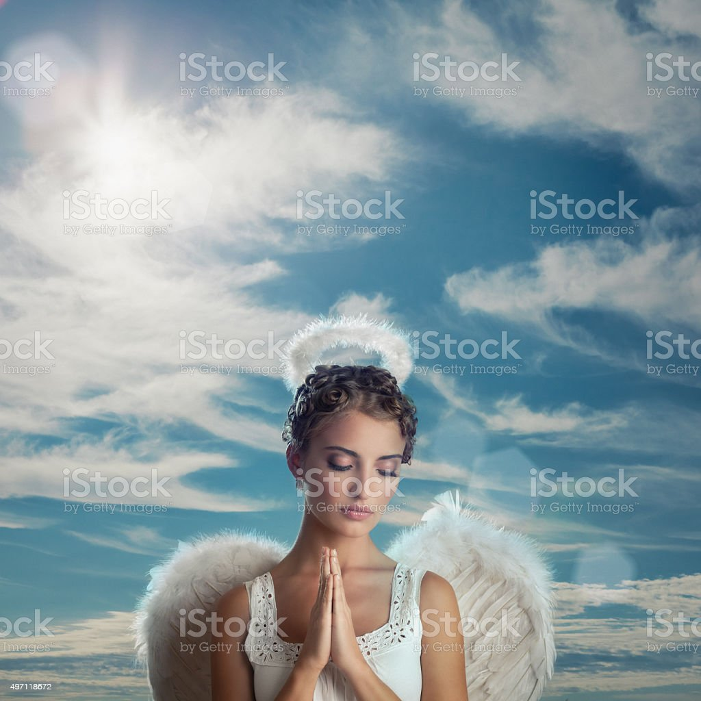 Praying Angel stock photo