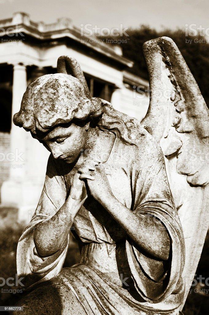 Praying Angel stock photo
