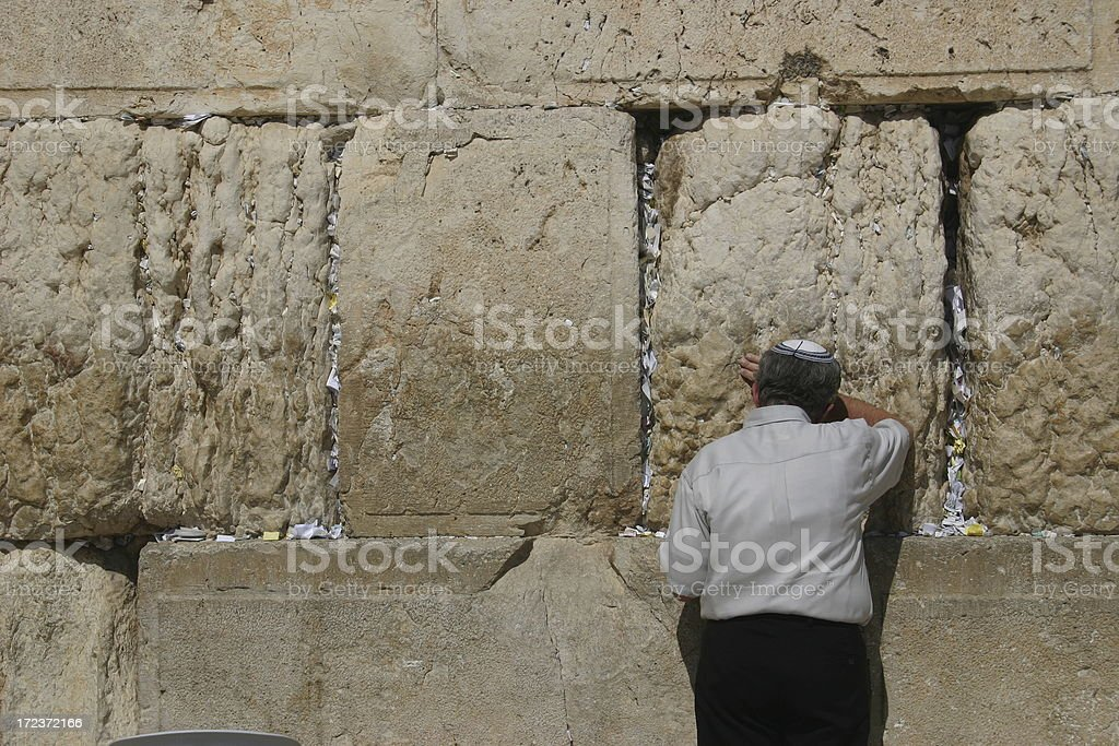 Praying at the Western Wall royalty-free stock photo