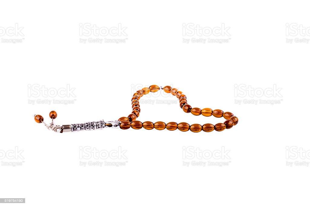 Praying beads or tespih stock photo