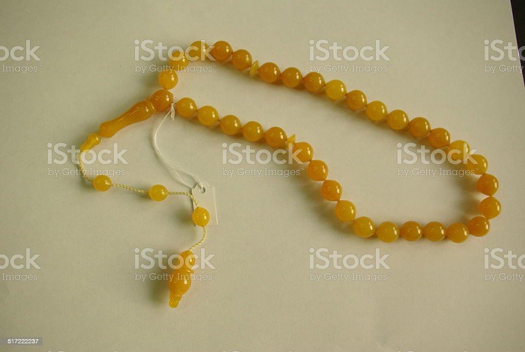 Praying beads, tespih stock photo