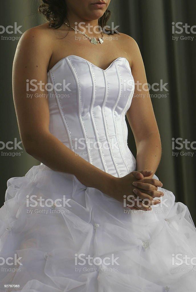 praying bride royalty-free stock photo