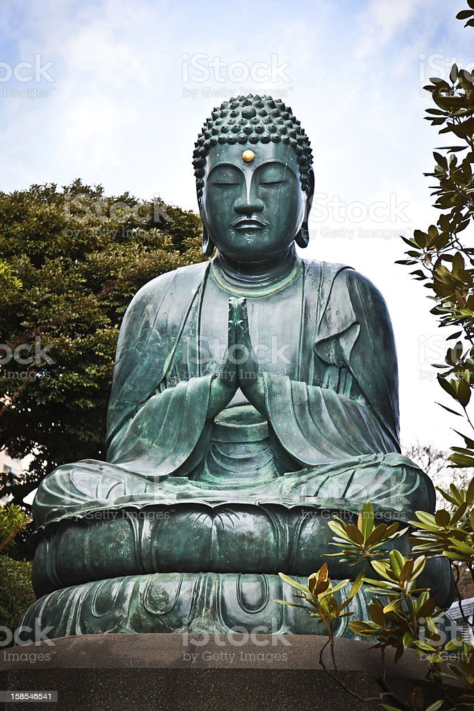 Praying Buddha Statue royalty-free stock photo