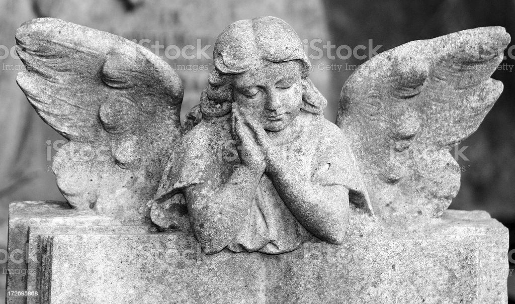 Praying Cherub stock photo