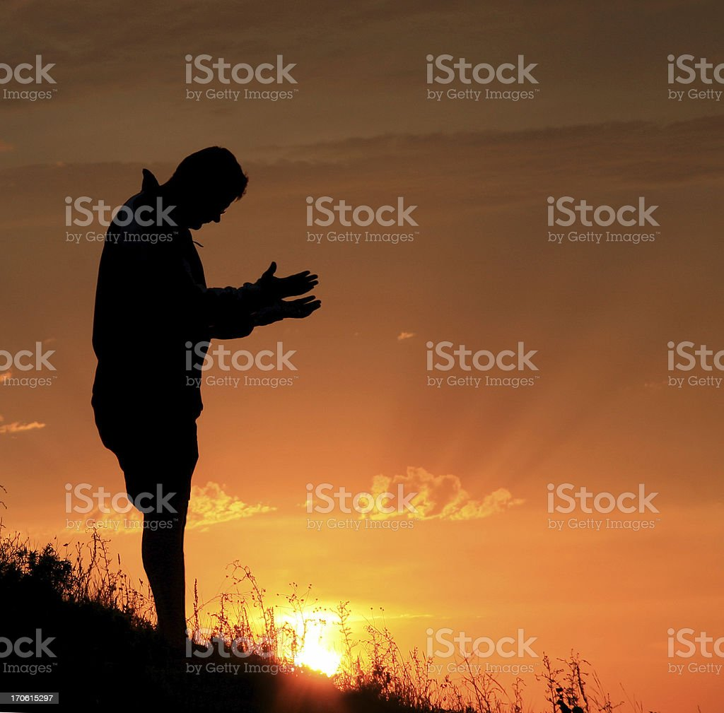 Praying for Help stock photo