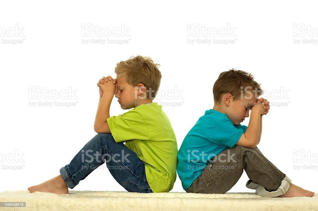 Praying Friends royalty-free stock photo