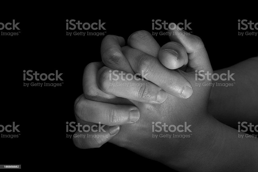 Praying Hands - Female royalty-free stock photo
