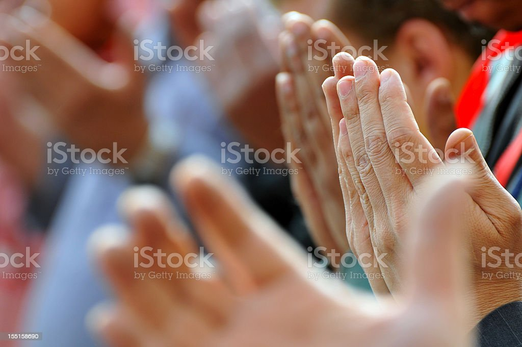 Praying hands in Tahrir Square - Cairo, Egypt stock photo