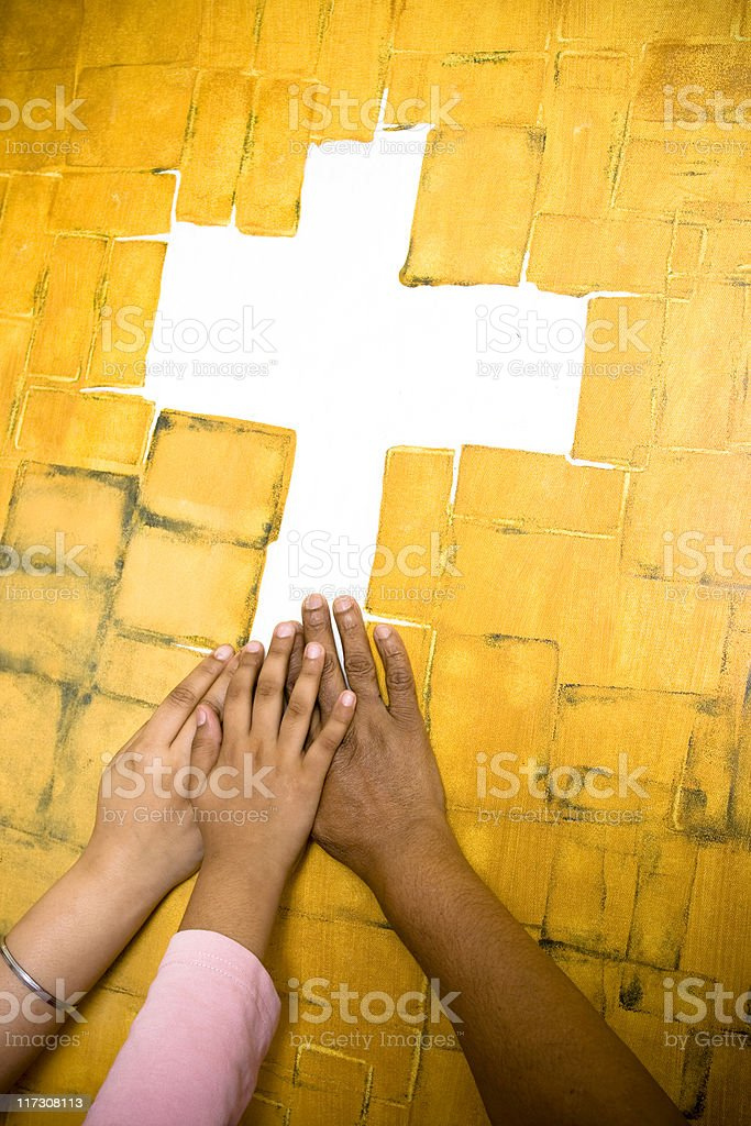 Praying hands royalty-free stock photo
