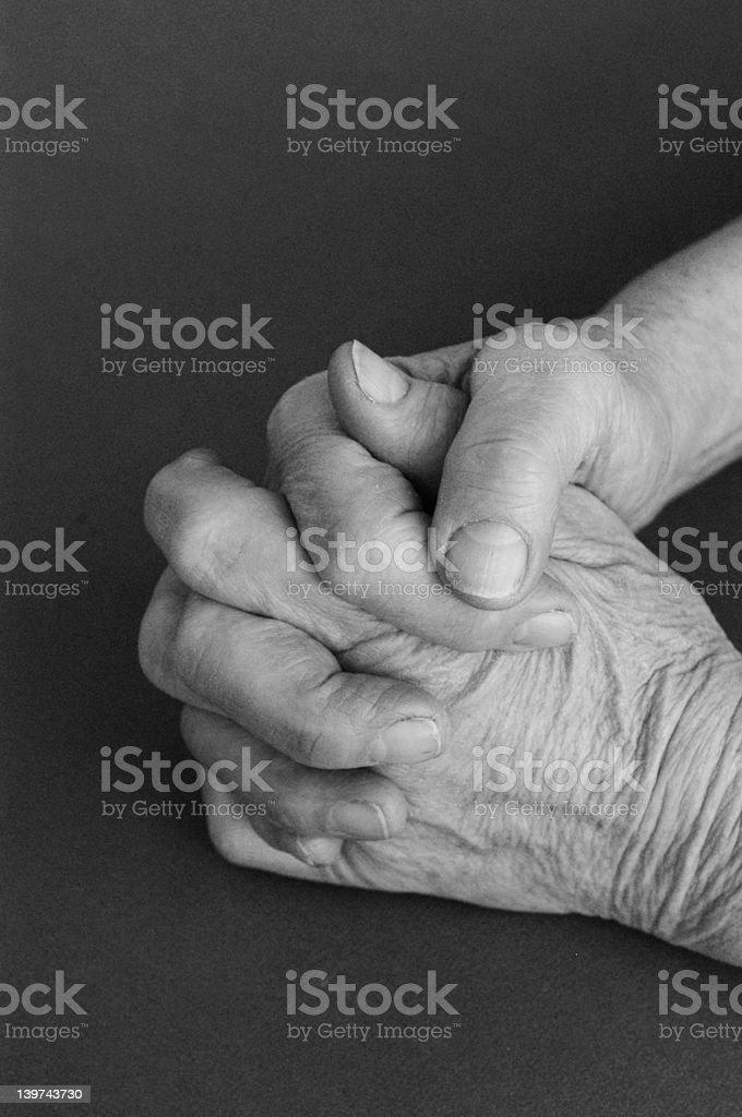 praying hands stock photo