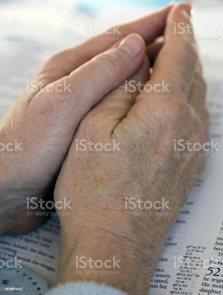 praying hands royalty-free stock photo