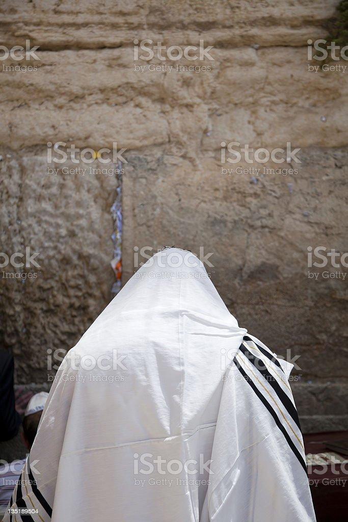 Praying in a Shawl royalty-free stock photo