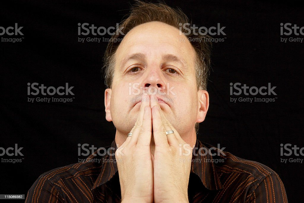 praying man - adult male royalty-free stock photo