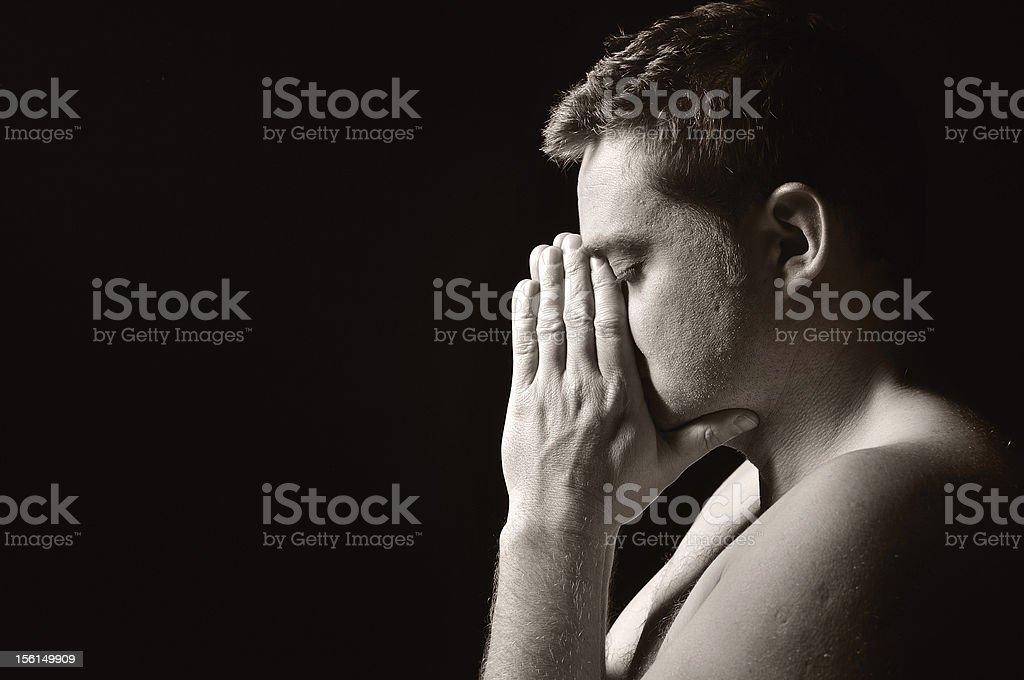 Praying man. royalty-free stock photo