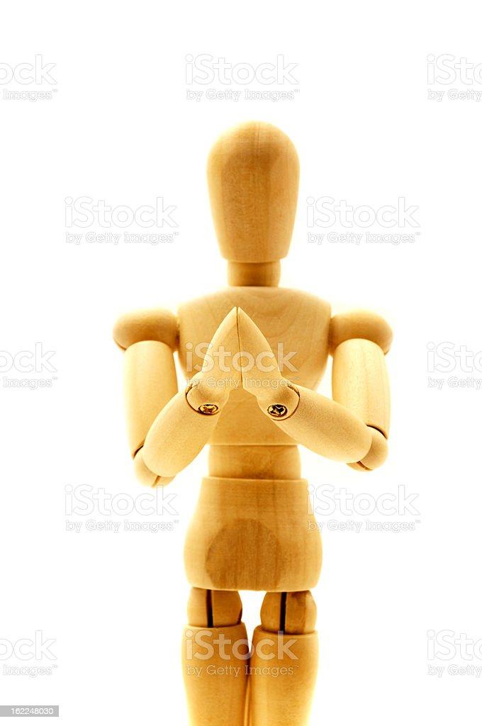Praying mannequin royalty-free stock photo