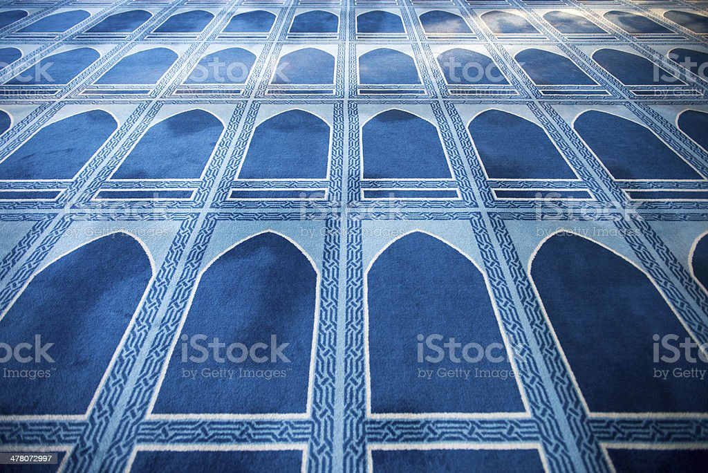 Praying Mats of New Mosque royalty-free stock photo