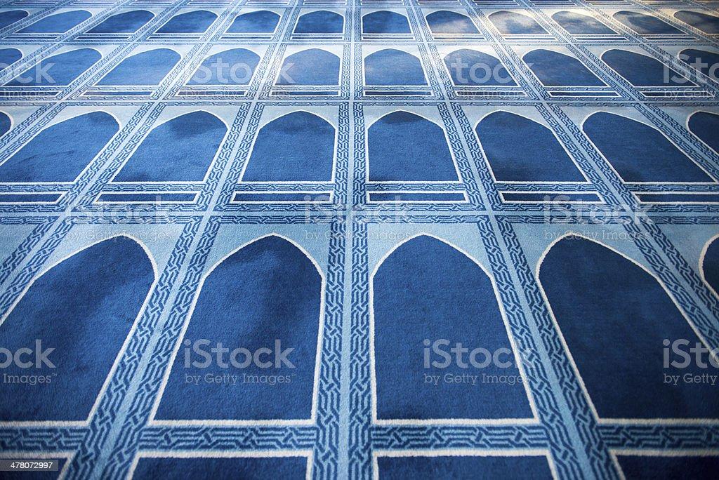 Praying Mats of New Mosque stock photo
