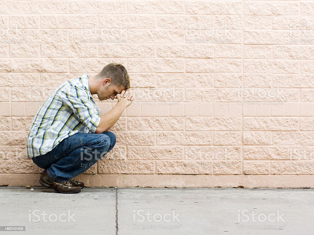 praying royalty-free stock photo