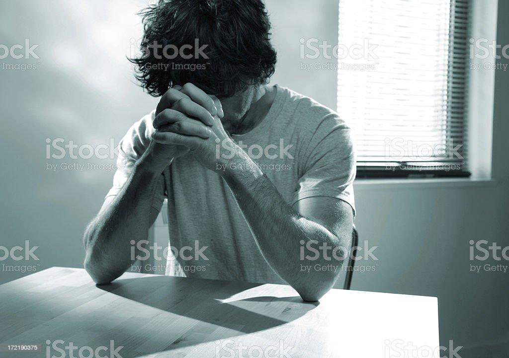 praying series royalty-free stock photo