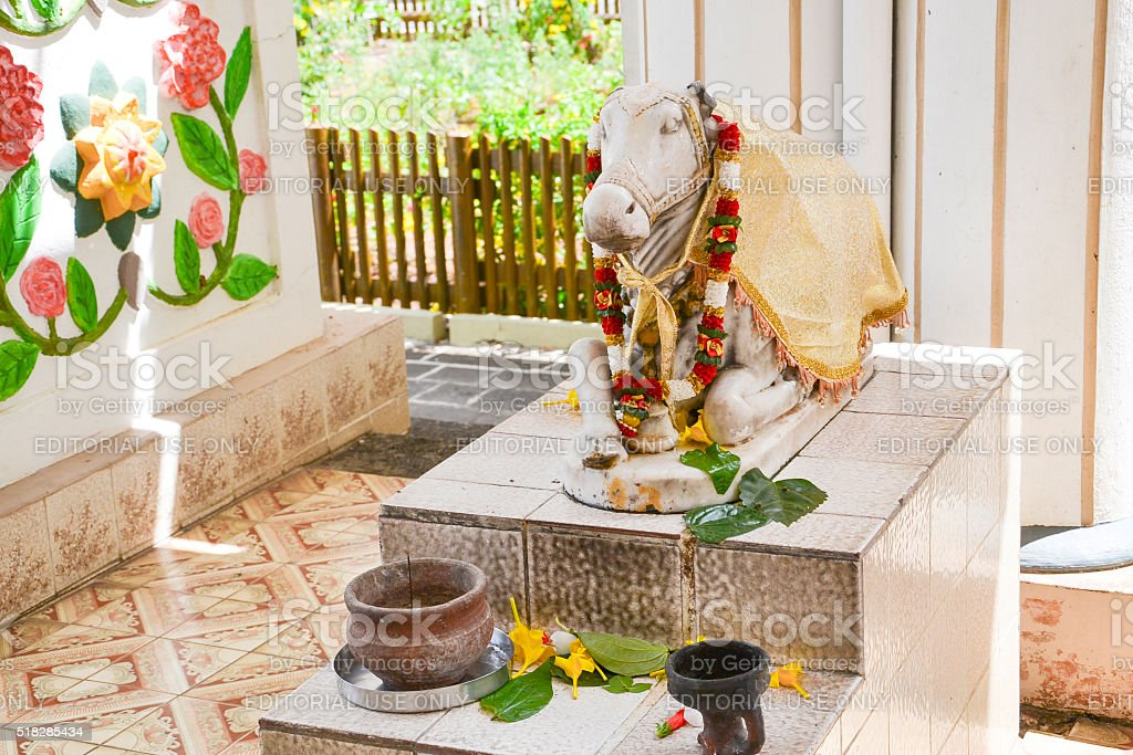 Praying statue for Hindu people stock photo