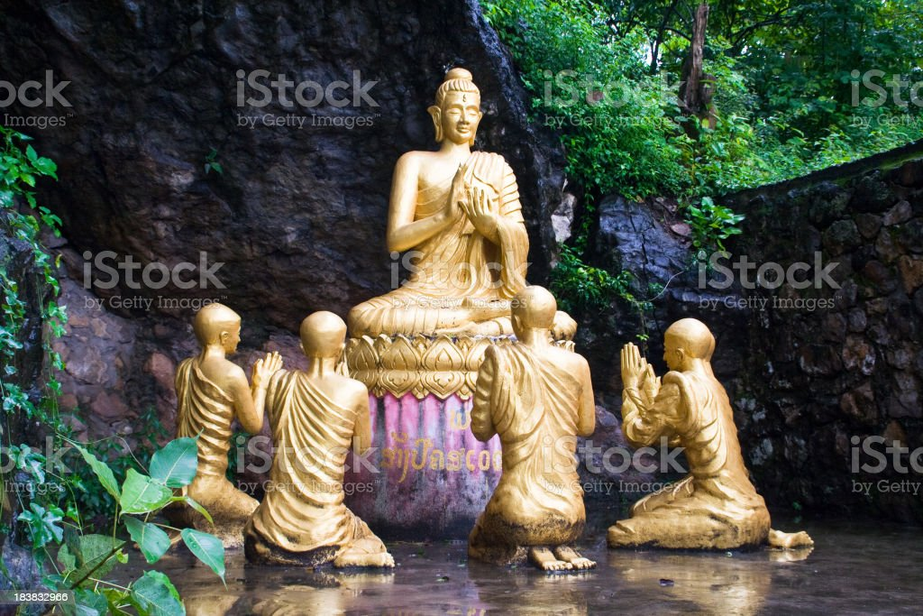 Praying to Buddhas royalty-free stock photo