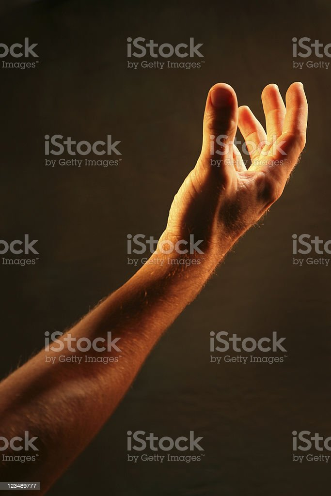 praying to God stock photo