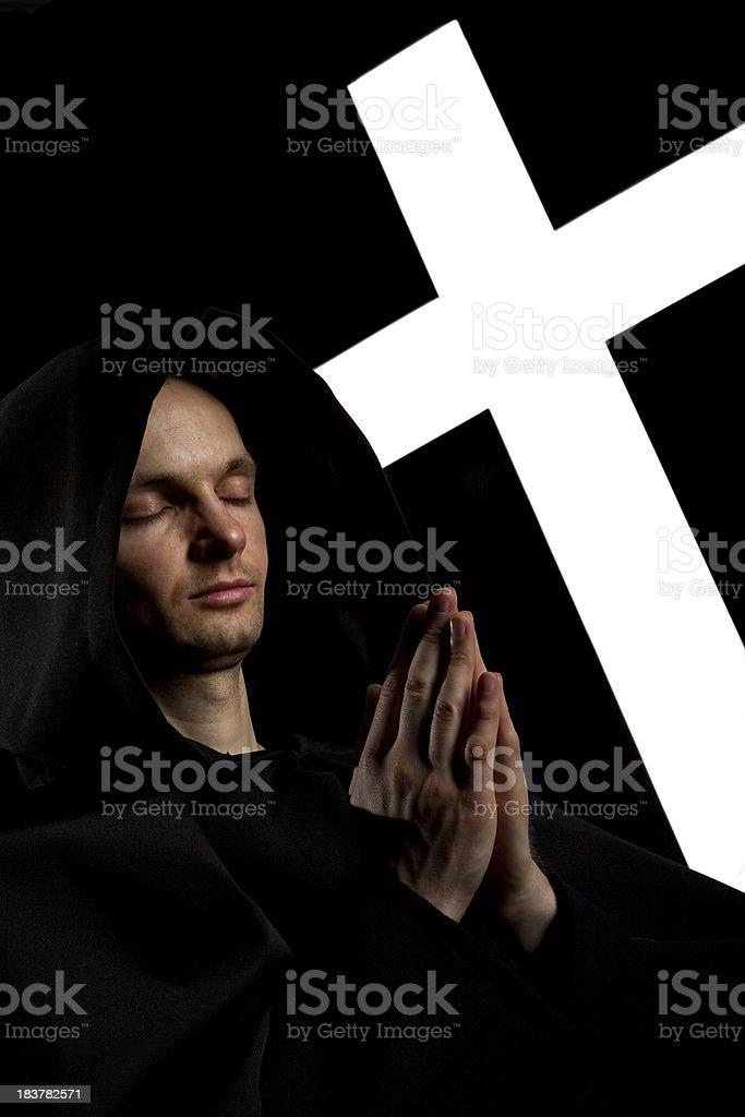 Praying to God stock photo
