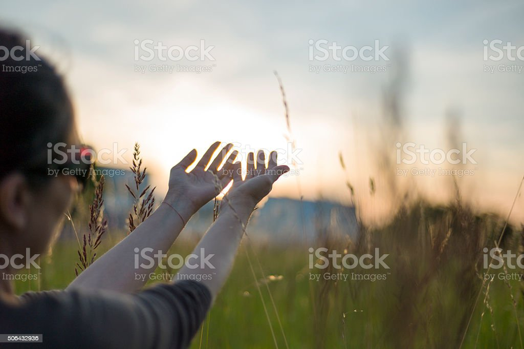 Praying to the Divine Spirit stock photo