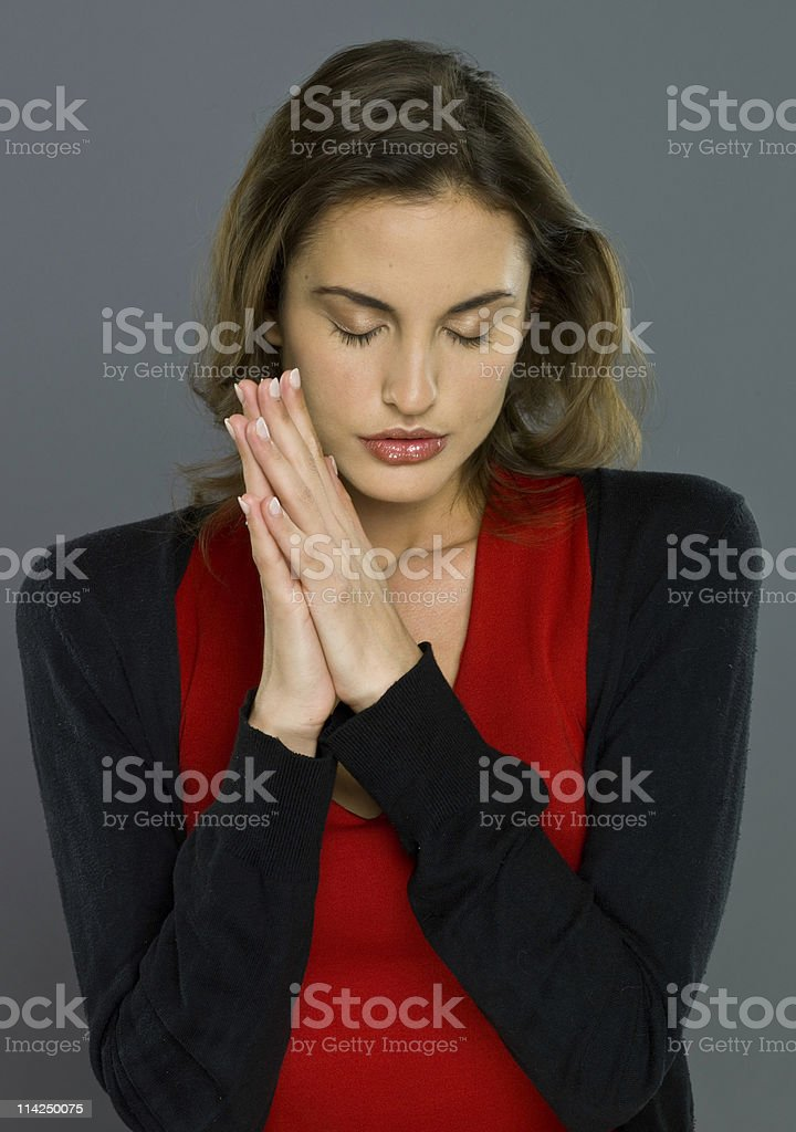 Praying to the lord royalty-free stock photo