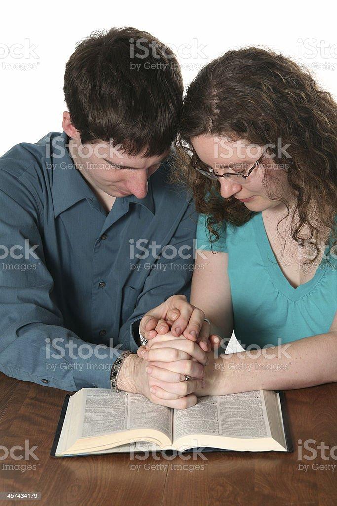 Praying Together stock photo