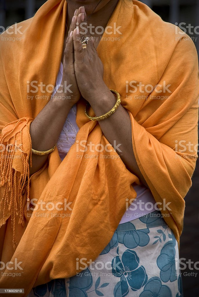 Praying woman royalty-free stock photo