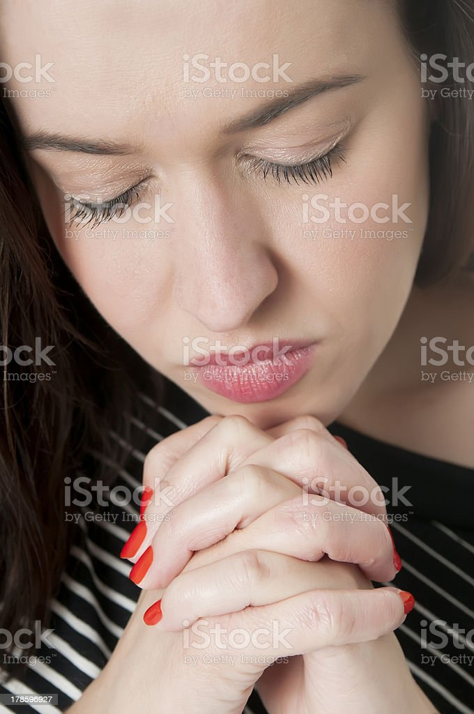 praying woman royalty-free stock photo