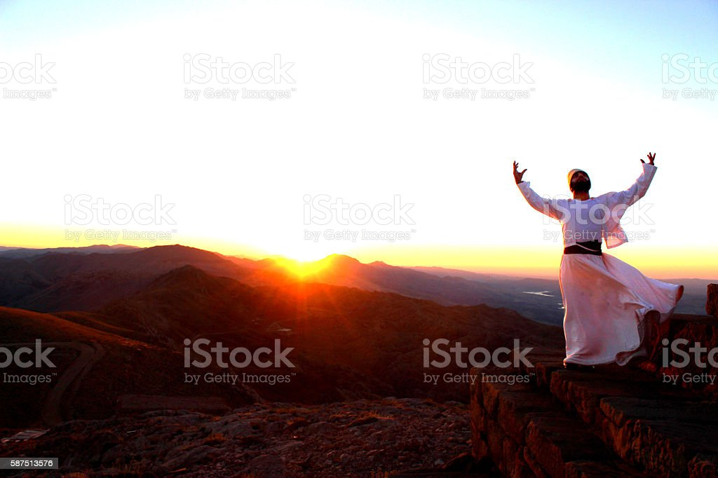 Pray...Mount Nemrut, Commagene stock photo