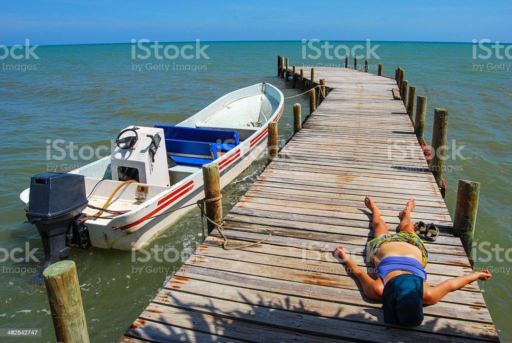 Pre Departure Deck Rest stock photo